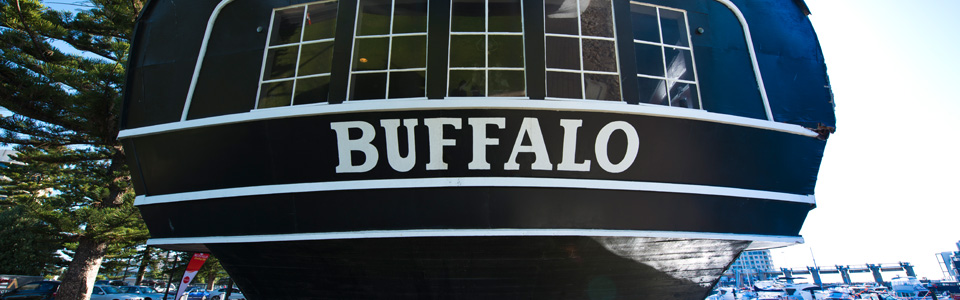 hms buffalo replica stern