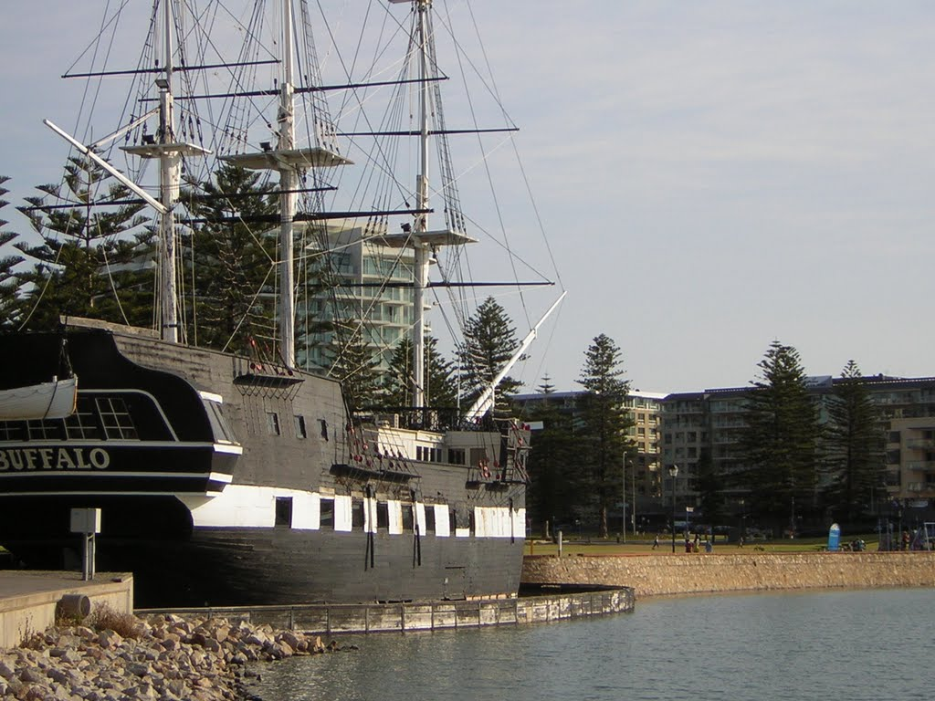what the hms buffalo replica looked like